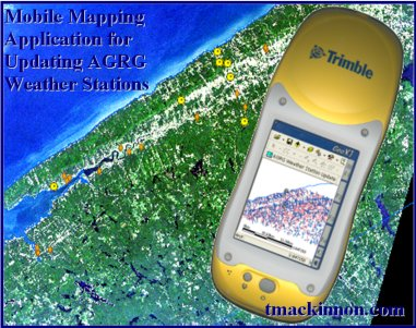 Mobile mapping application for updating weather station data project in the Annapolis Valley, Nova Scotia