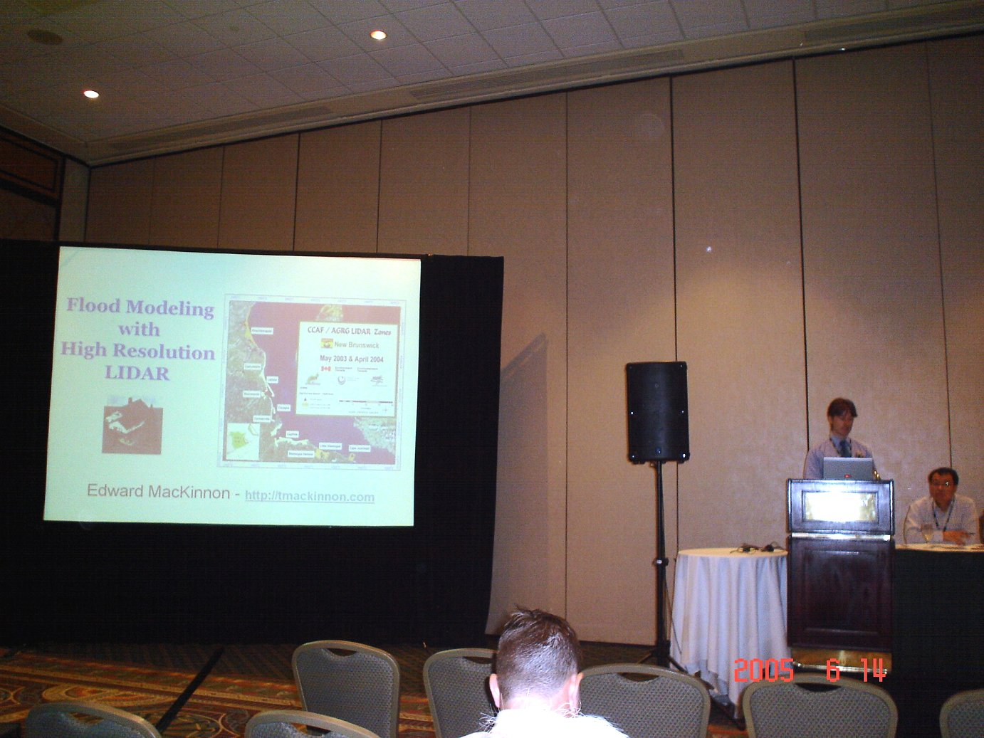 3D Flood Modeling with LIDAR - Three Dimensional Flood Modeling with High Resolution LIDAR presentation at the Canadian Institute of Geomatics 2005 Conference held in Ottawa, Ontario