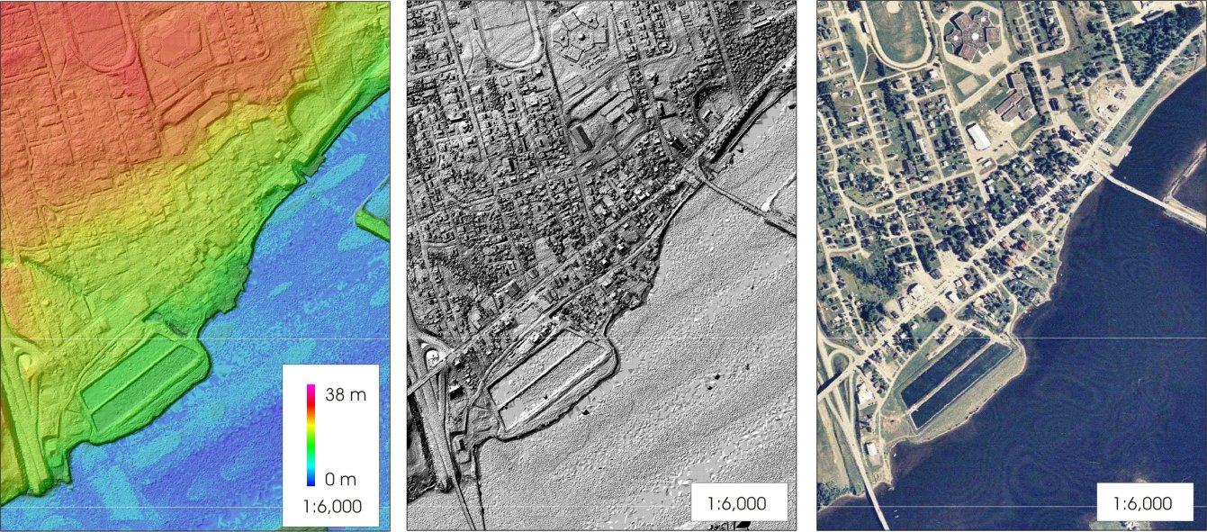 LIDAR surface modeling of Bouctouche New Brunswick