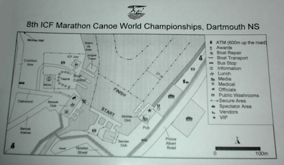 8th ICF Marathon Canoe World Championships Site Map