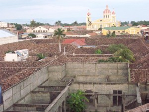 View from the bell tower of Iglesia la Merced