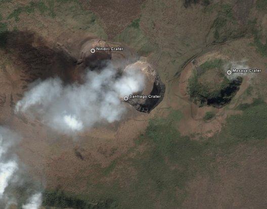 Volcan Masaya Satellite Image