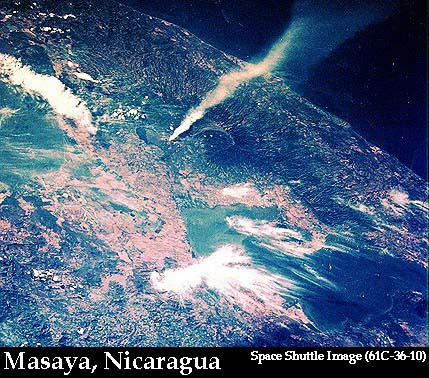 Space Shuttle Image of Masaya Smoke