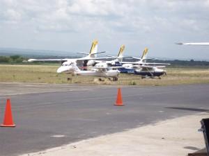 Planes near Airport Hangar