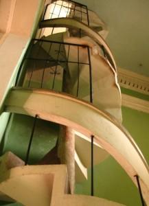 Bell tower steps of Iglesia la Merced