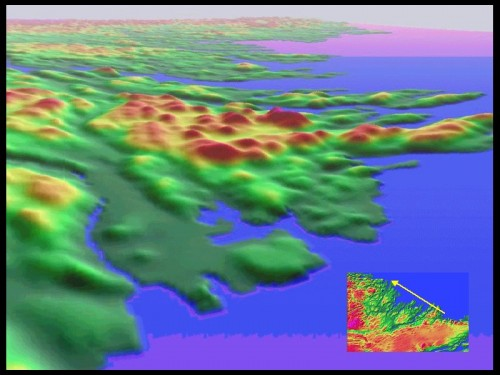 Color Shaded Relief Models of Makkovik, Labrador