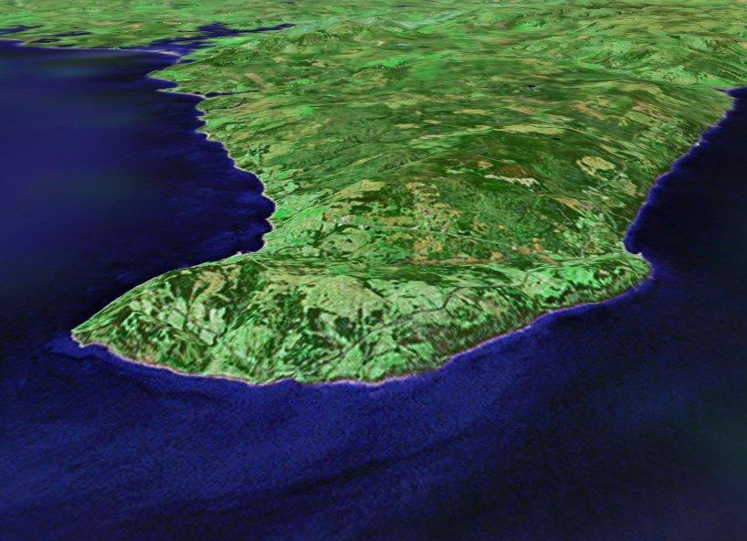 3D perspective view of Cape George, Nova Scotia
