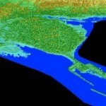 Color Shaded Relief Models of Pointe Du Chene, New Brunswick