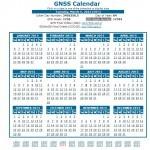 2013 GNSS calender