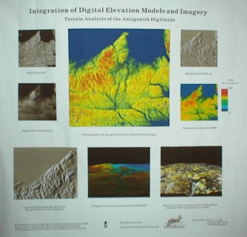 Integration of Digital Elevation Models and Imagery for Antigonish Highlands featuring a Color Shaded Relief Model