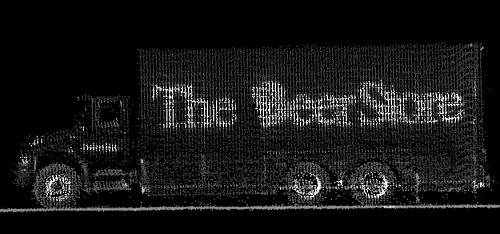 LIDAR Data of A Beer Store truck in Ontario