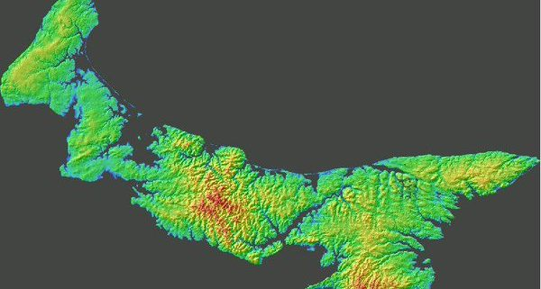 PEI Color Shaded Relief Model (CSR)