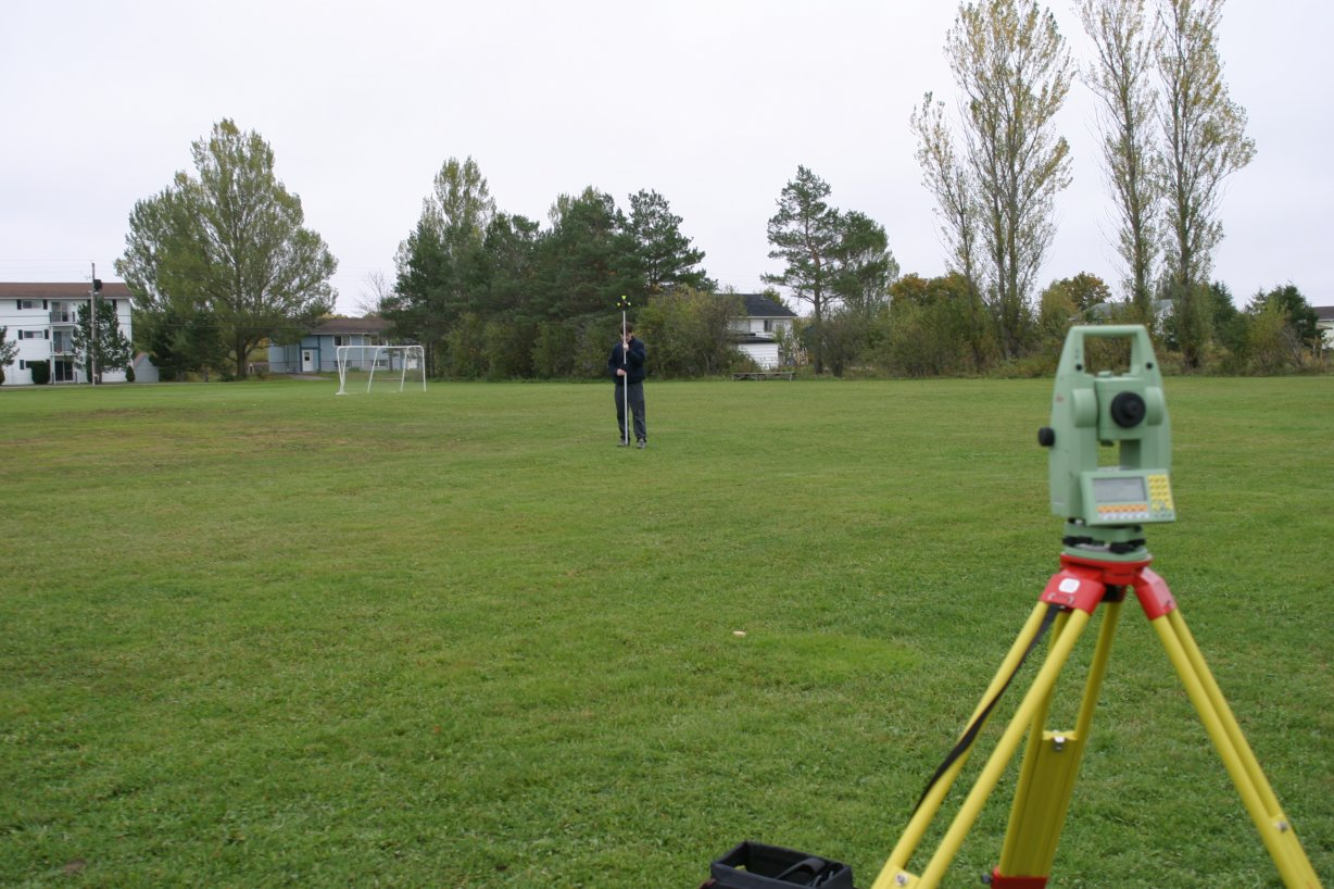 Leica Total Station - Surveying from a Known Point