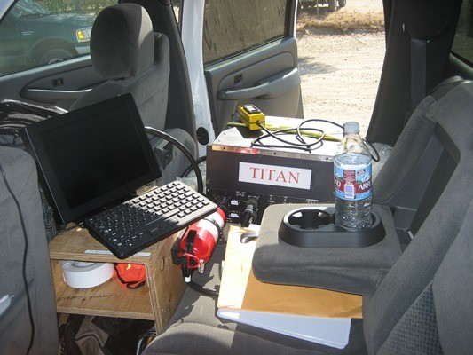 Inside the back of TITAN