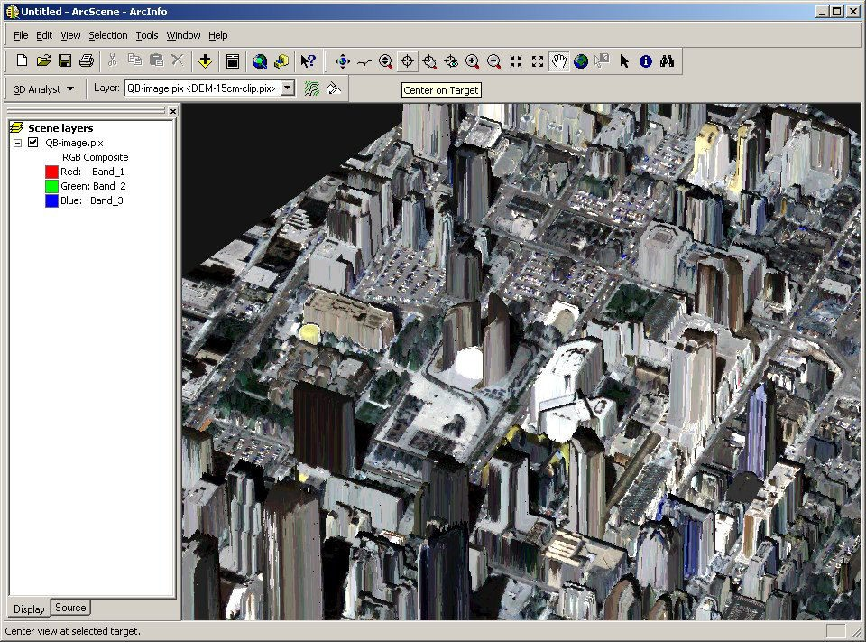 Toronto City Hall 3D LIDAR image made with ESRI Arc Scene