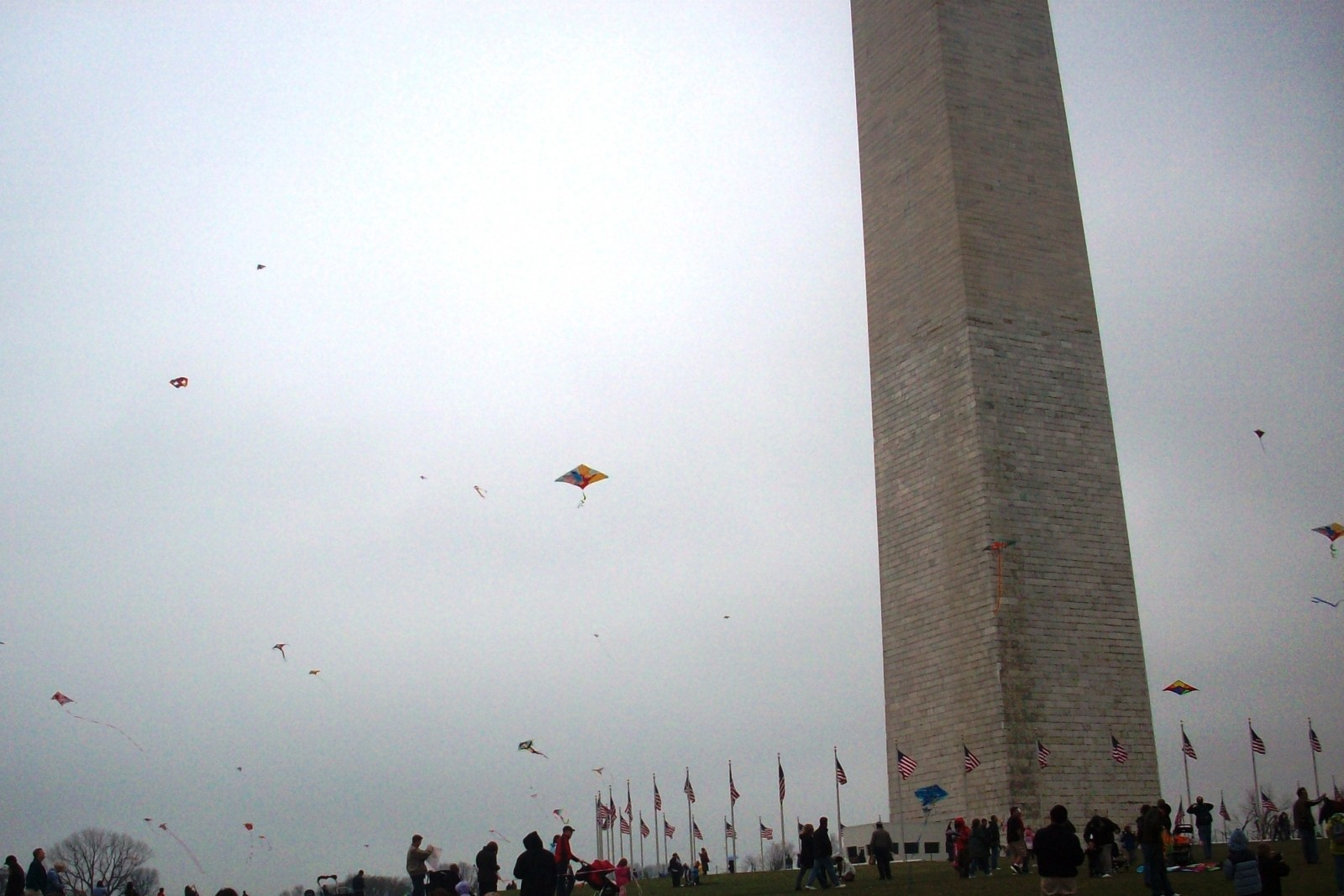 Smithsonian Kite Festival in front of the Washington Monument