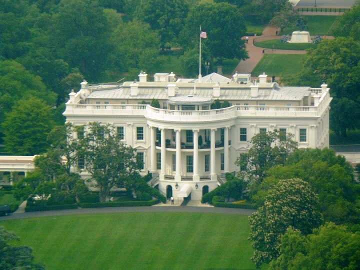 Aerial Photo of the White House - 1600 Pennsylvania Avenue Washington, DC