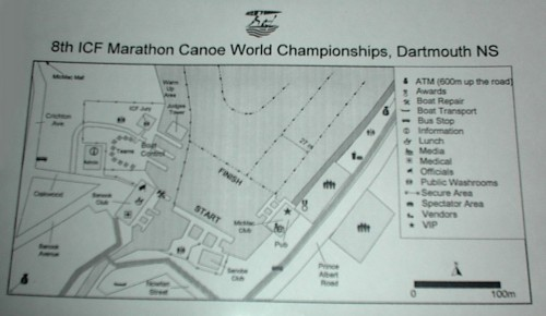 Marathon Canoe World Championships Site Map