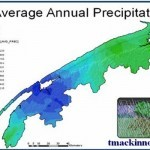 GIS Spatial Modeling - GIS Model of Average Annual Precipitation of the Annapolis Valley, Nova Scotia