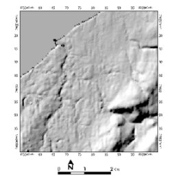 Shaded Relief Model of Lismore, Nova Scotia