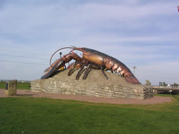 Cement Lobster in Shediac NewBrunswick Lobster Capital of the World