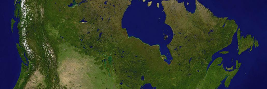 Canadian satellite image