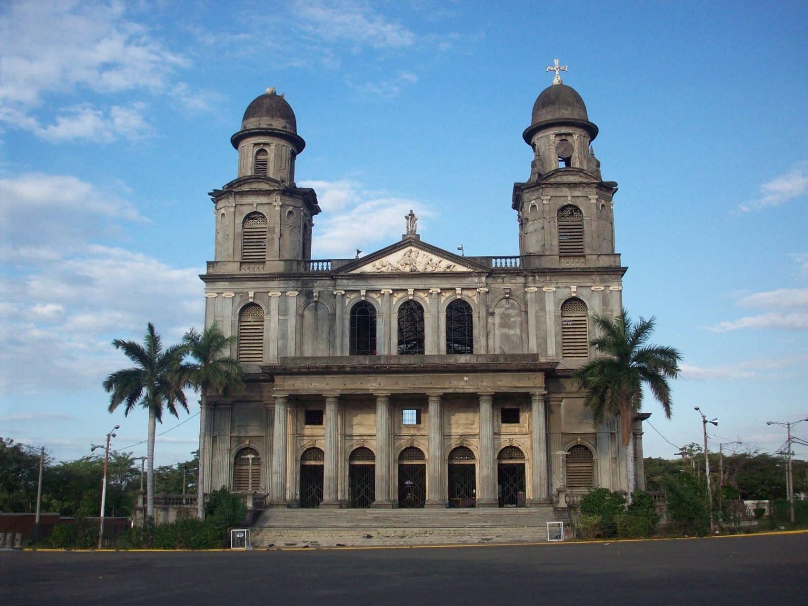 Cathedral of Managua. An old Roman Catholic cathedral built by the Dutch i